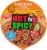 Nissin Hot & Spicy Chicken Flavor Ramen Noodle Soup Bowl Perspective: top