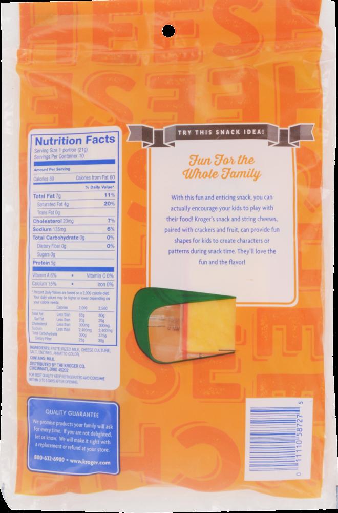 Kroger® Mild Cheddar Snack Cheese