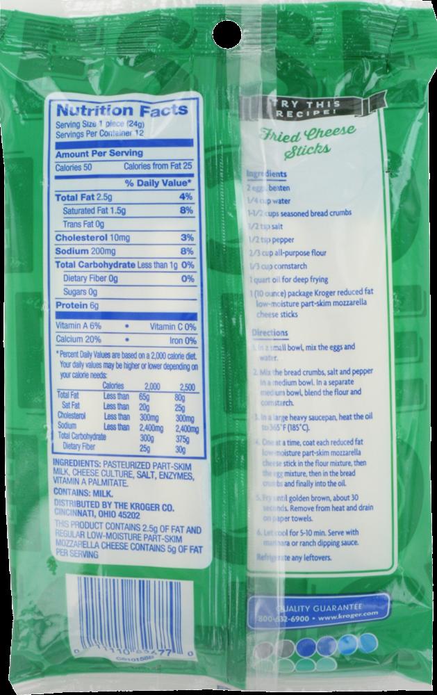 Reduced Fat Mozzarella String Cheese 12