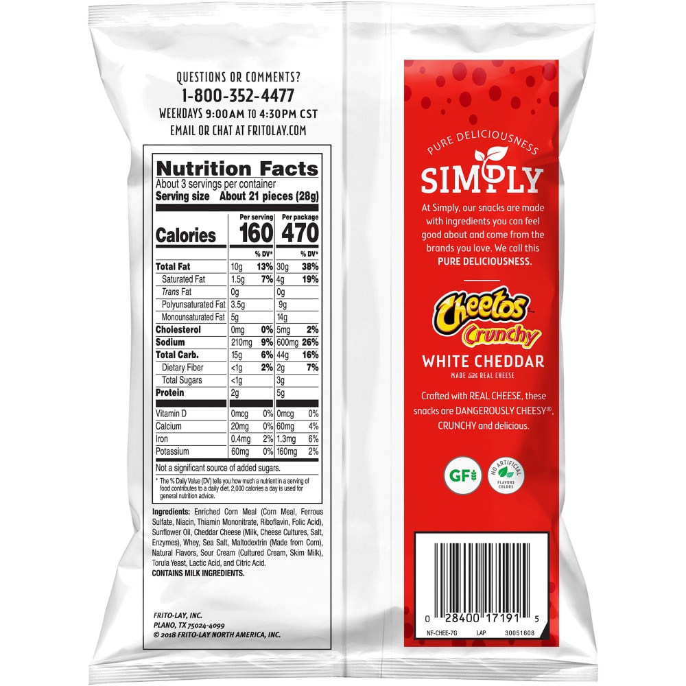 Ralphs - Cheetos Simply Crunchy White Cheddar Cheese Flavored Snacks