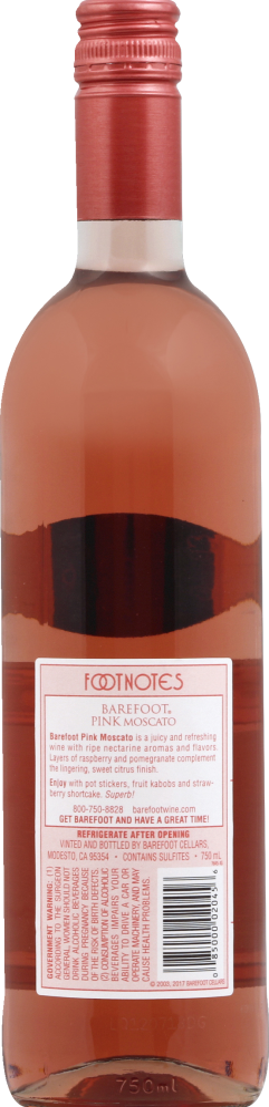 Food 4 Less - Barefoot Pink Moscato Blush Wine, 750 mL