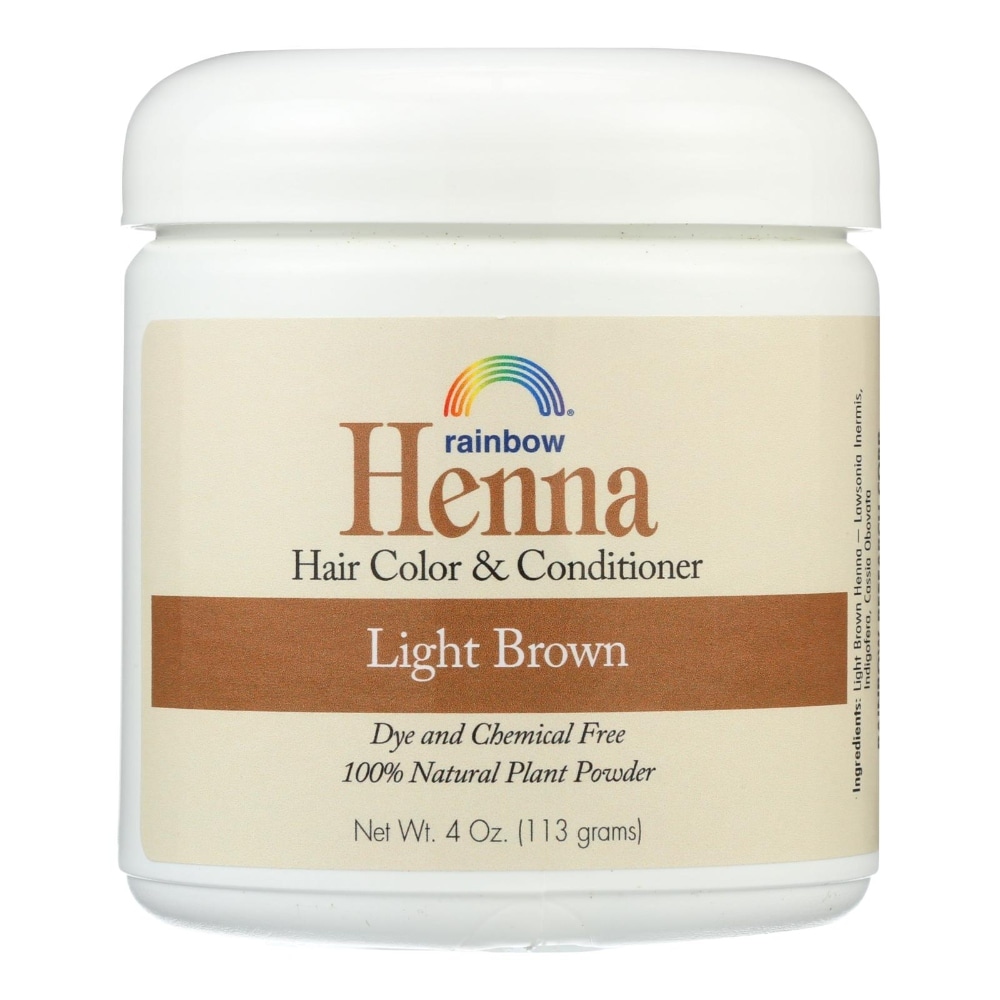 Fred Meyer Rainbow Henna Persian Light Brown 100 Botanical Hair