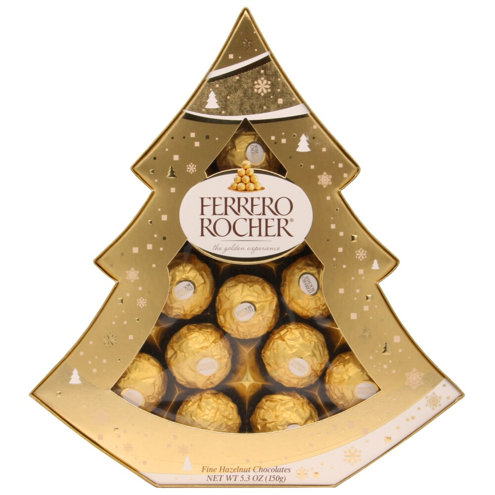 ferrero rocher 12 piece christmas tree box perspective front - Fred Meyer Hours Christmas