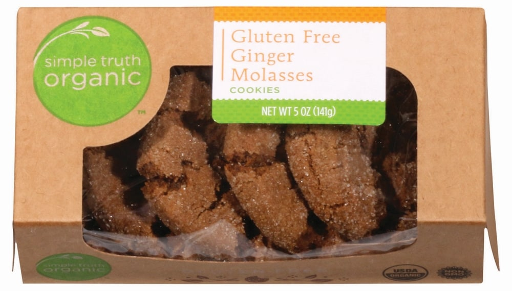 Simple Truth Organic Gluten Free Ginger Molasses Cookies 5 Oz