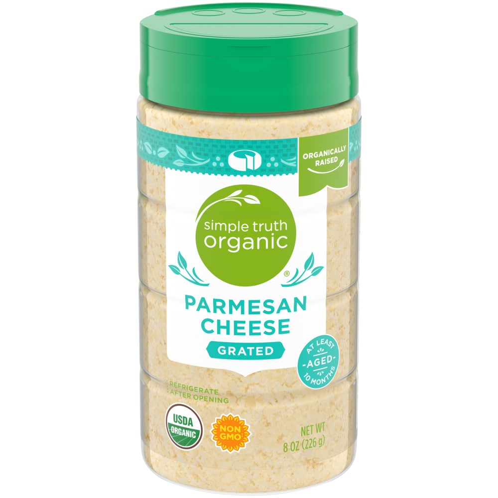 Kroger Simple Truth Organic Grated Parmesan Cheese 8 Oz