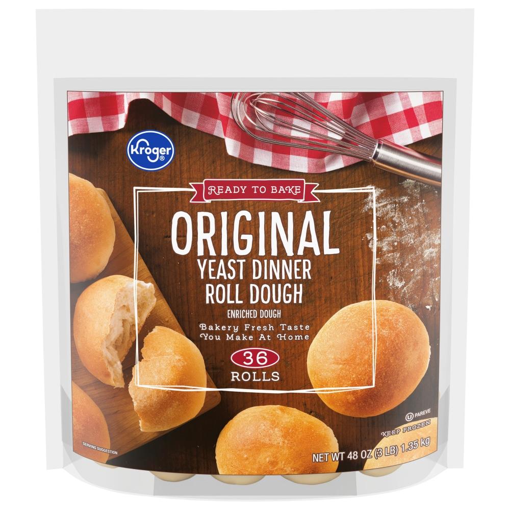 Kroger Kroger Original Yeast Dinner Dough Rolls 48 Oz