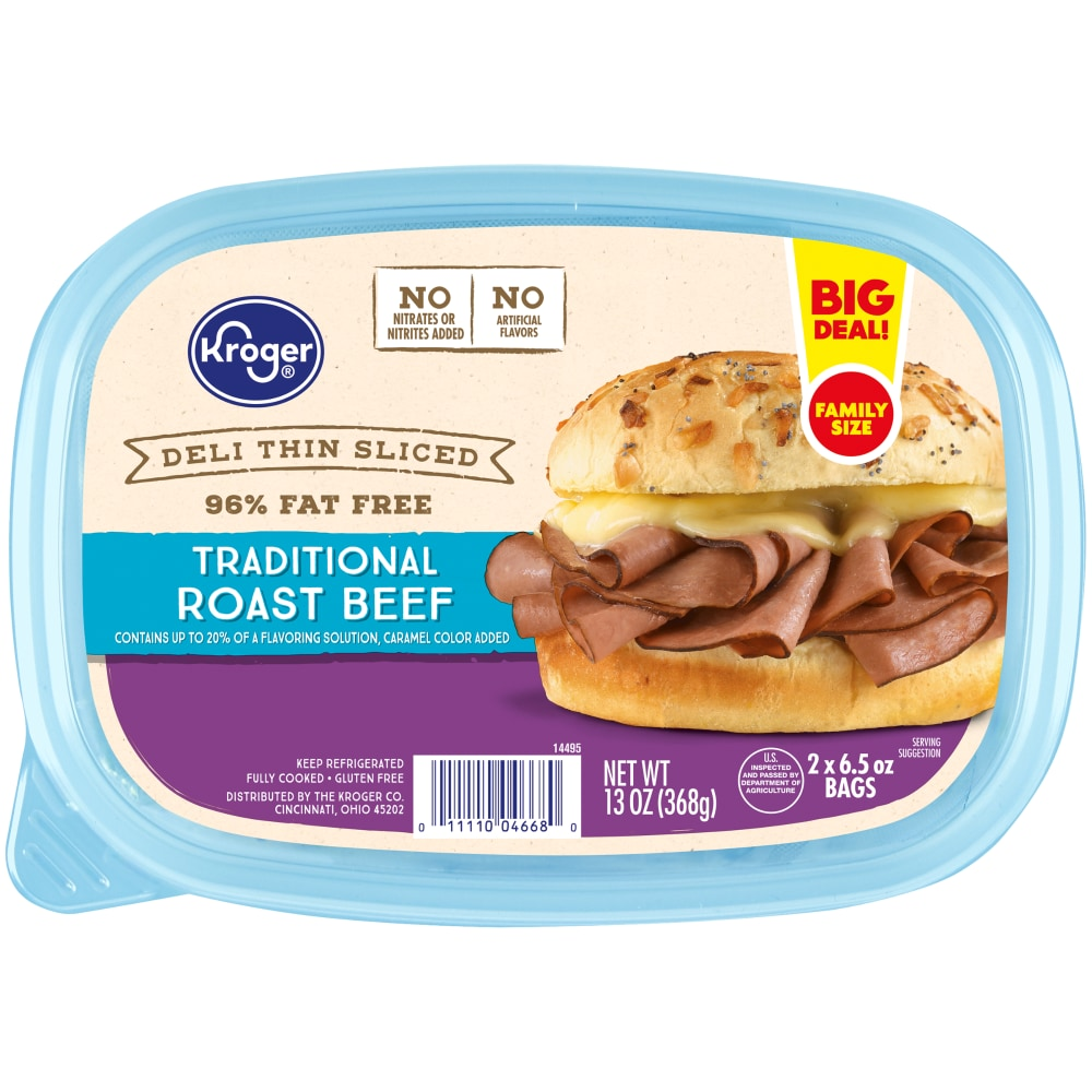 Kroger Deli Thin Sliced Traditional Roast Beef 13 Oz Kroger Breaded with a special blend of herbs and spices, it's fried up in store every day, guaranteed. kroger deli thin sliced traditional roast beef 13 oz