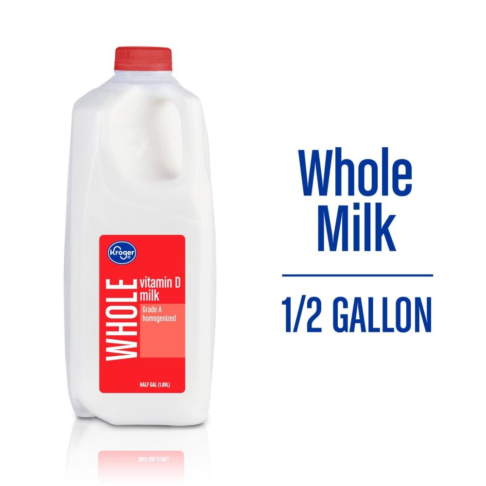 Kroger Kroger Vitamin D Whole Milk 1 2 Gal