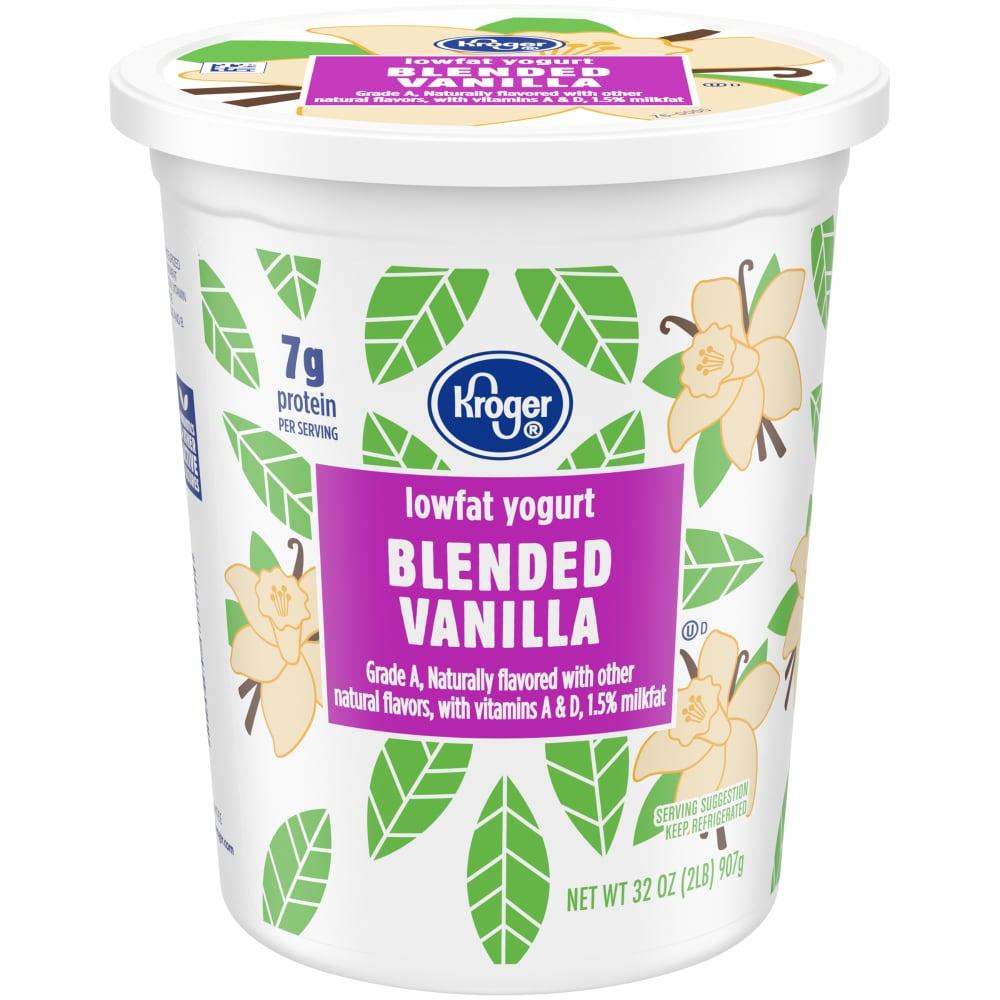 Blended Vanilla Lowfat Yogurt Tub, 32 oz