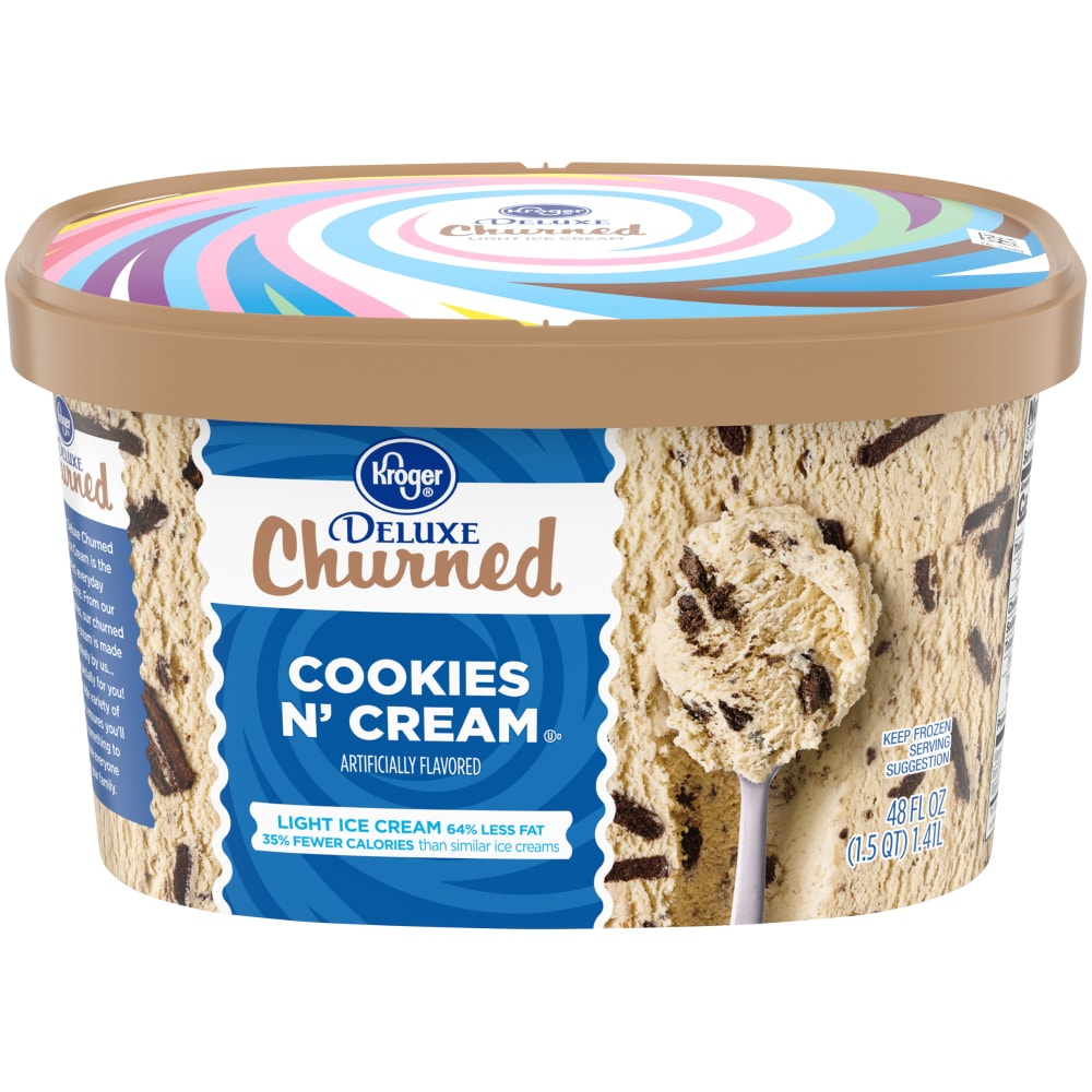 & Cream Churned Light Ice Cream