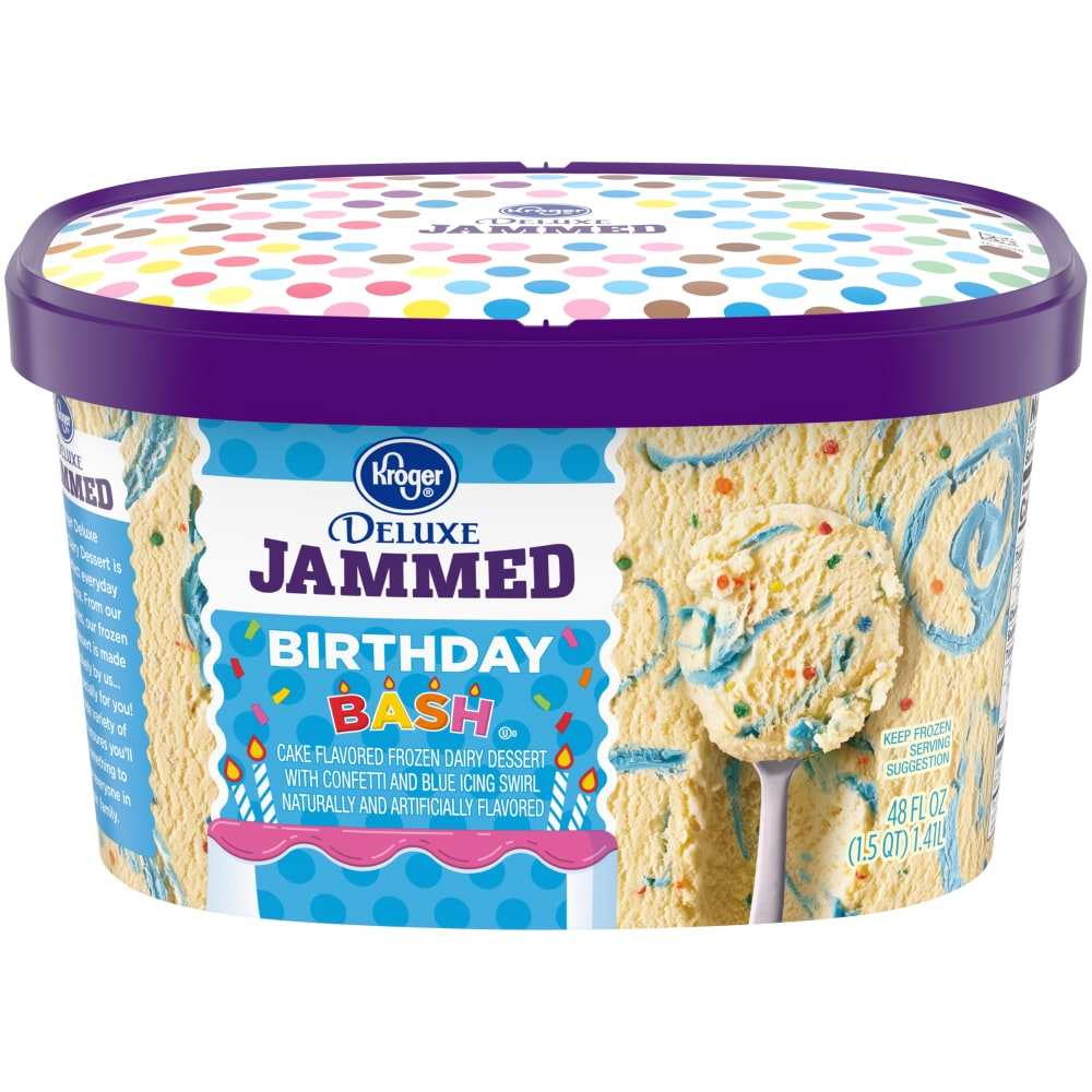Awe Inspiring Kroger Kroger Deluxe Jammed Birthday Bash Ice Cream 48 Fl Oz Personalised Birthday Cards Cominlily Jamesorg