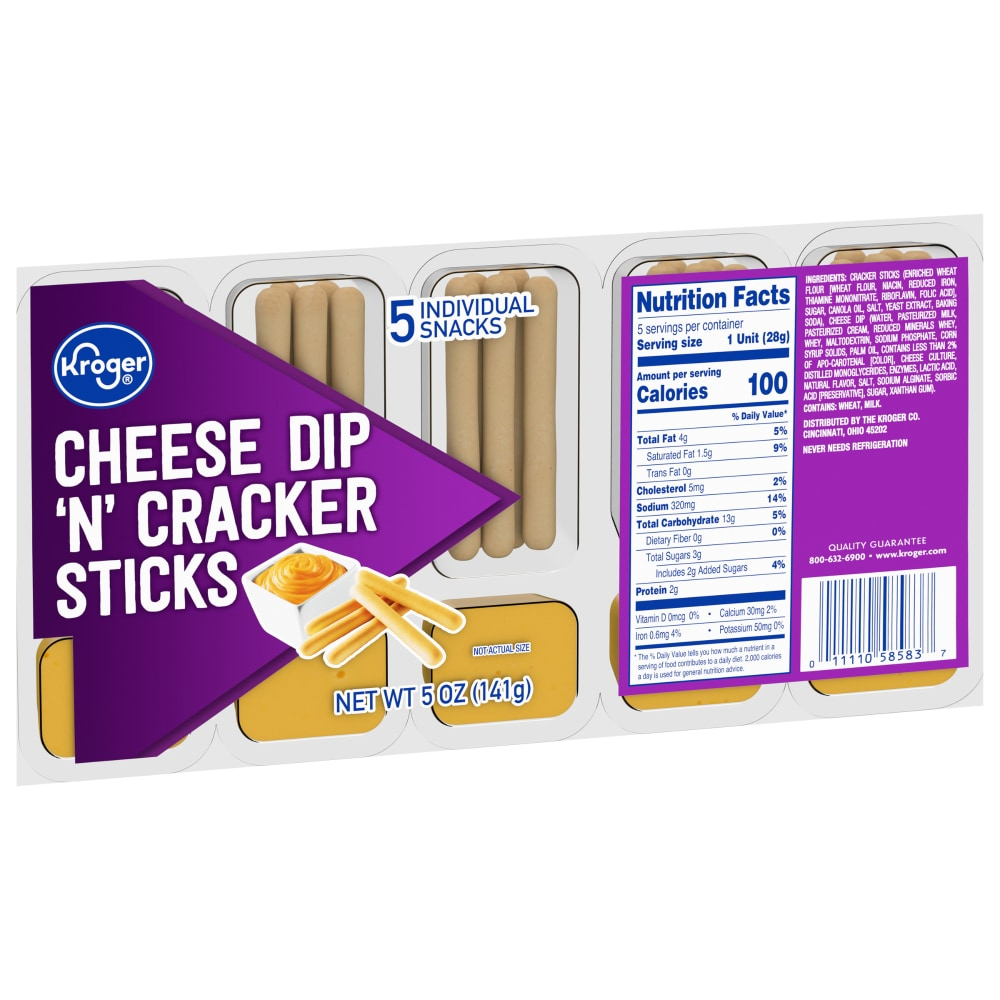 Mariano S Kroger Cheese Dip N Cracker Sticks 5 Count 5 Oz