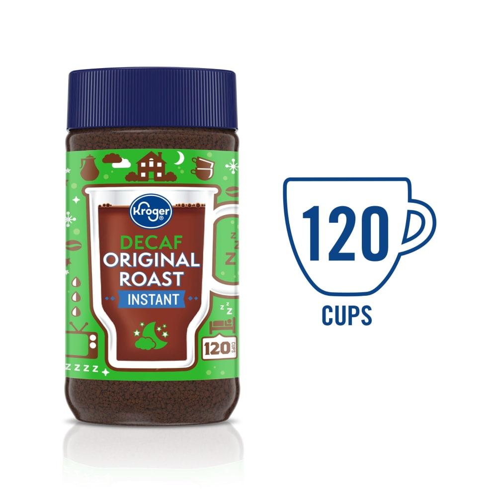 King Soopers Kroger Decaf Original Roast Instant Coffee 8 Oz
