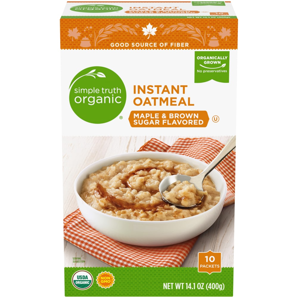 c53cda87e73 Ralphs - Simple Truth Organic™ Maple   Brown Sugar Instant Oatmeal ...