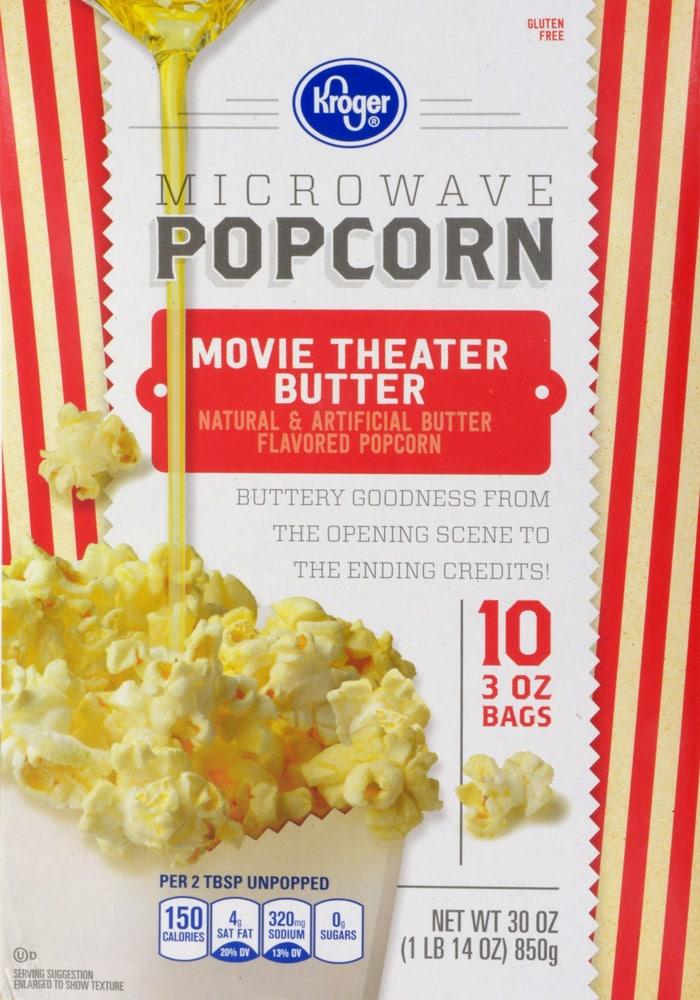 Kroger Kroger Microwave Popcorn Movie Theater Butter 10 Ct 3 Oz