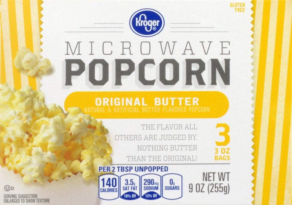 Kroger Microwave Popcorn Original Er Perspective Front