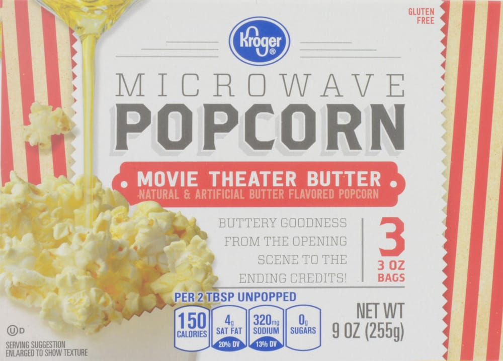 Ralphs Kroger Movie Theater Butter Microwave Popcorn 3 Count 9 Oz