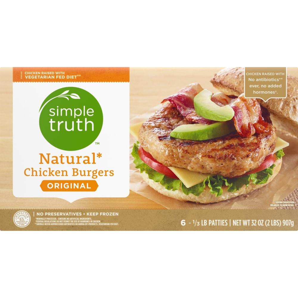 Natural Chicken Burgers 6 Ct