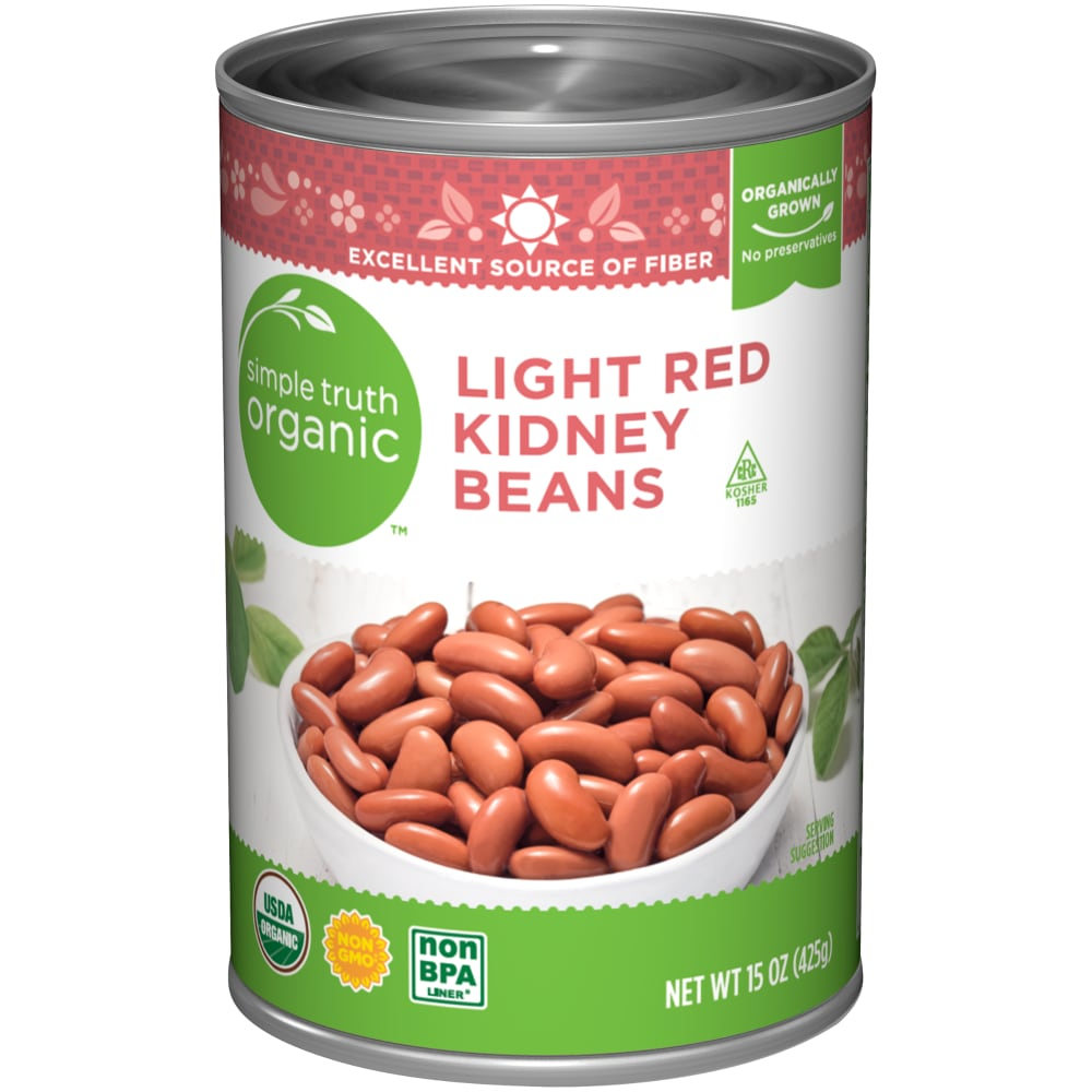 Kroger Simple Truth Organic Light Red Kidney Beans 15 Oz