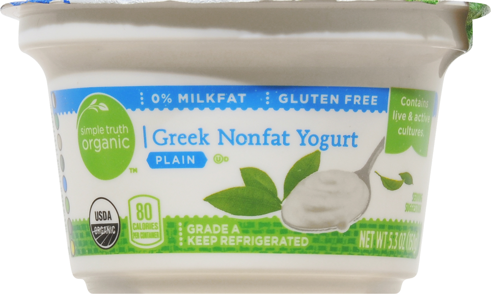 Simple Truth Organic™ Plain Greek Nonfat Yogurt Perspective: front