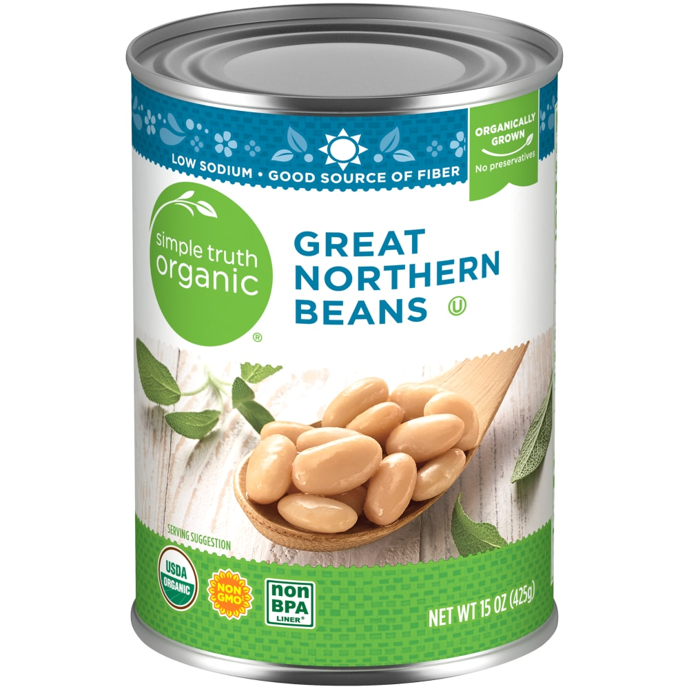 Kroger Simple Truth Organic Great Northern Beans 15 Oz
