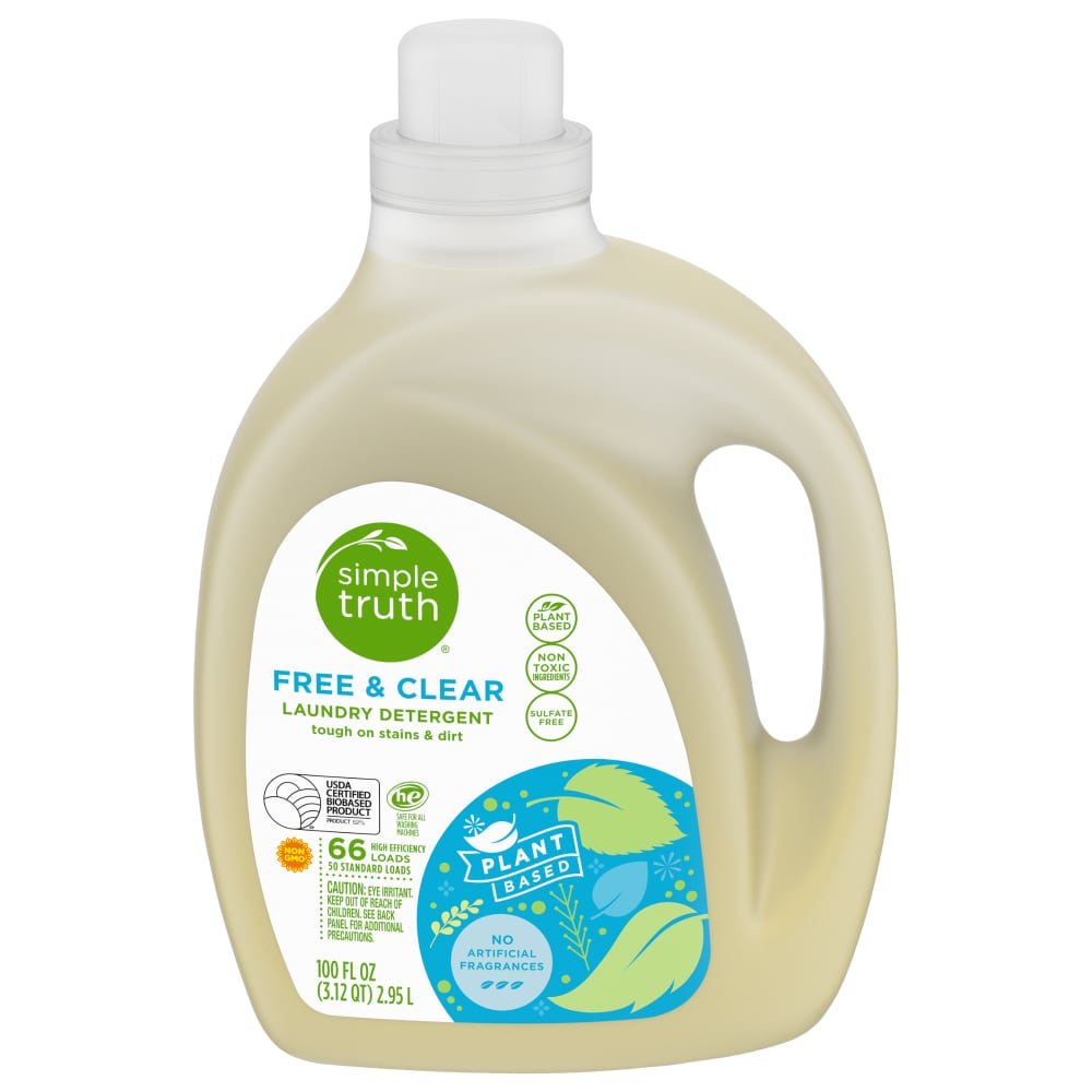 Kroger Simple Truth Free Clear Liquid Laundry Detergent 100
