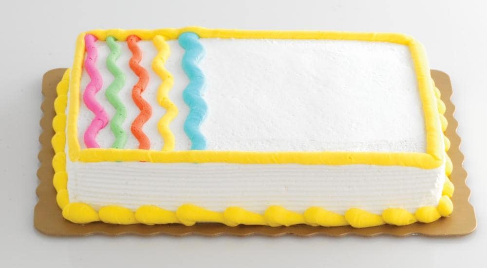 Fantastic King Soopers Bakery Fresh Goodness Waves Yellow Sheet Cake With Birthday Cards Printable Opercafe Filternl