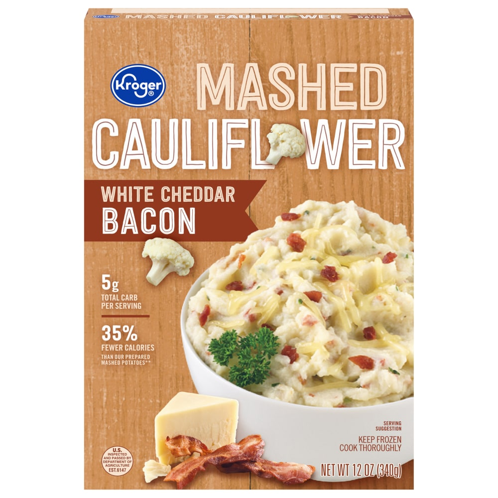 Qfc Kroger White Cheddar Bacon Mashed Cauliflower 12 Oz