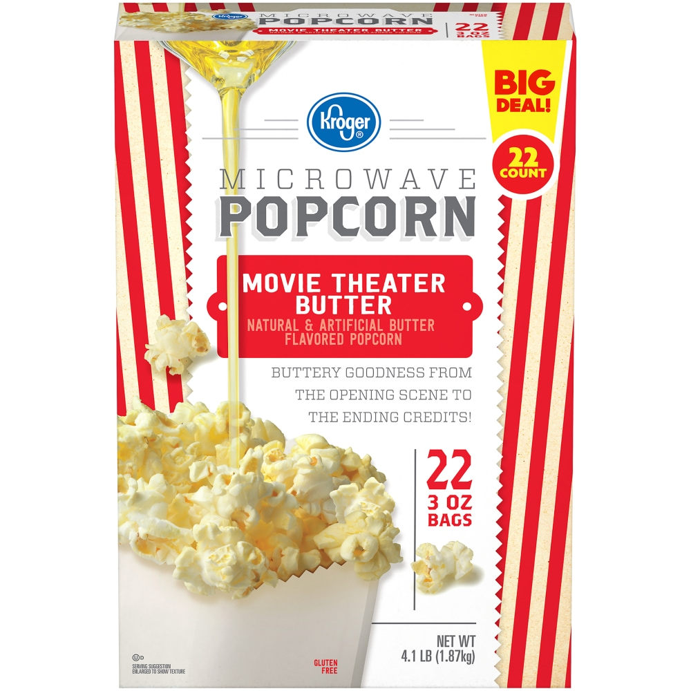 Qfc Kroger Movie Theater Butter Microwave Popcorn 22 Count 4 1 Lb