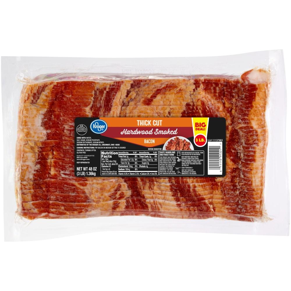 Thick Cut Hardwood Smoked Bacon, 3 lb