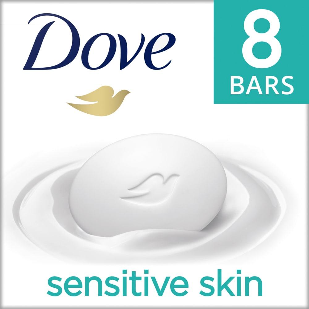 Kroger Dove Sensitive Skin Fragrance Free Hypo Allergenic Beauty Bars 8 Ct 3 75 Oz