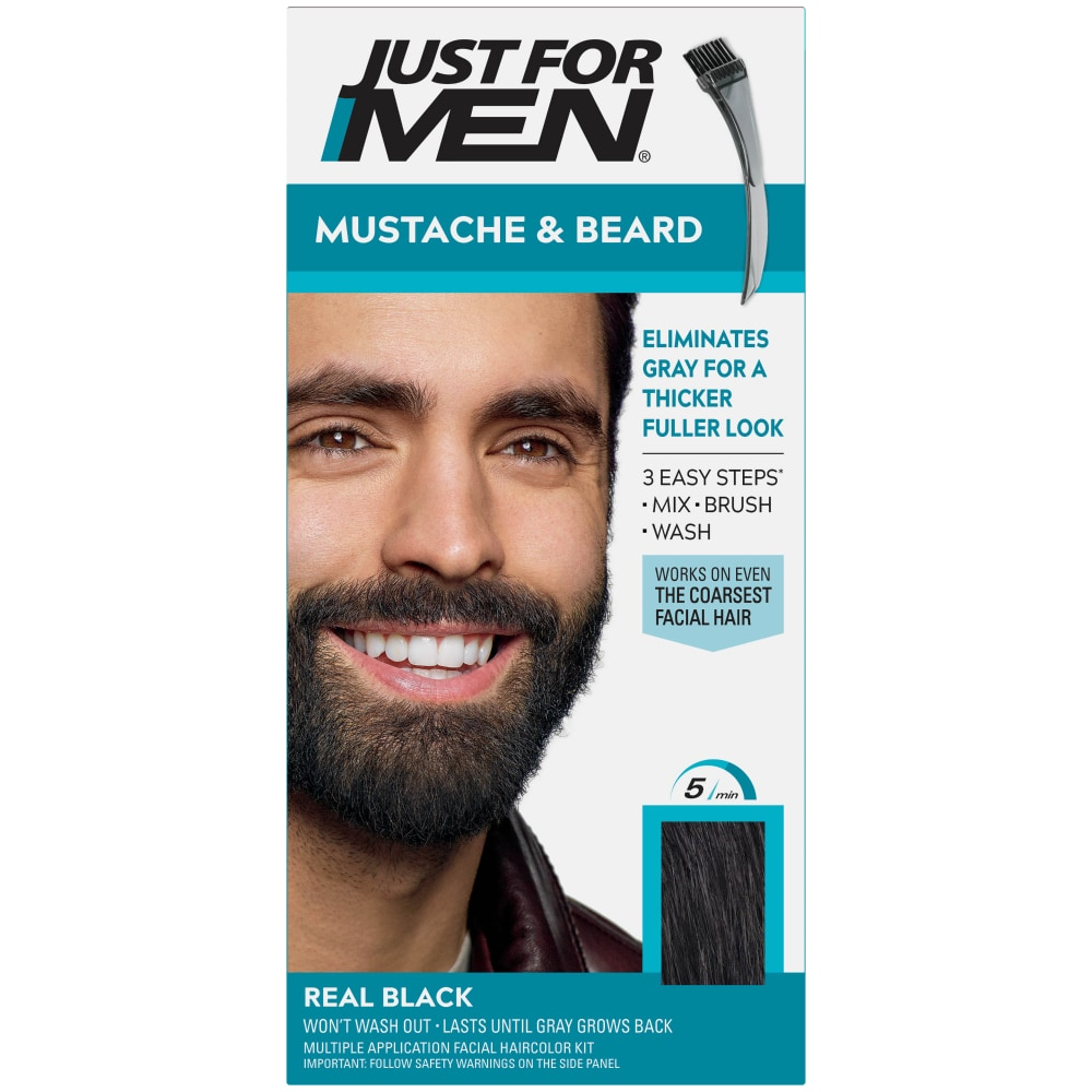Foods Co. - Just For Men Mustache & Beard M-55 Real Black ...