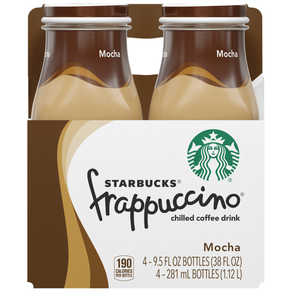 Starbucks Mocha Frappuccino Chilled Coffee Drink 4 Bottles 9 5 Fl Oz
