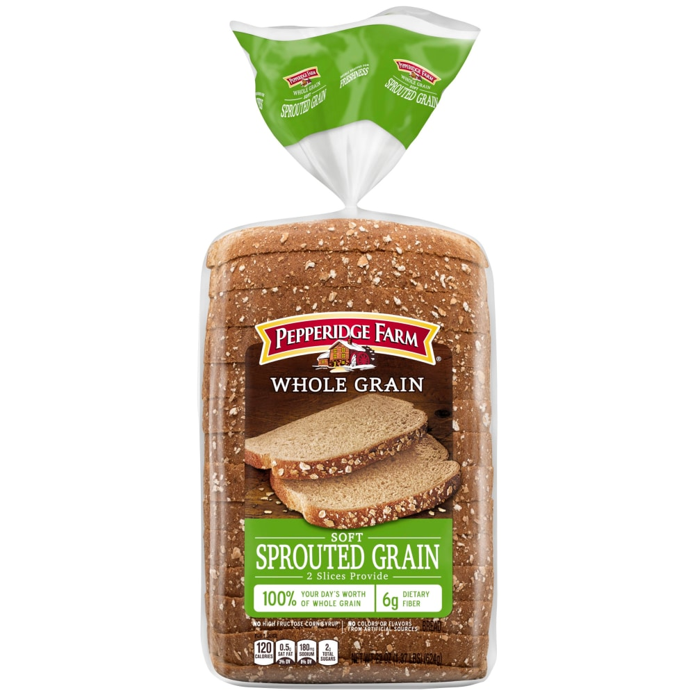 Pepperidge Farm Soft Sprouted Whole Grain Bread Perspective: front