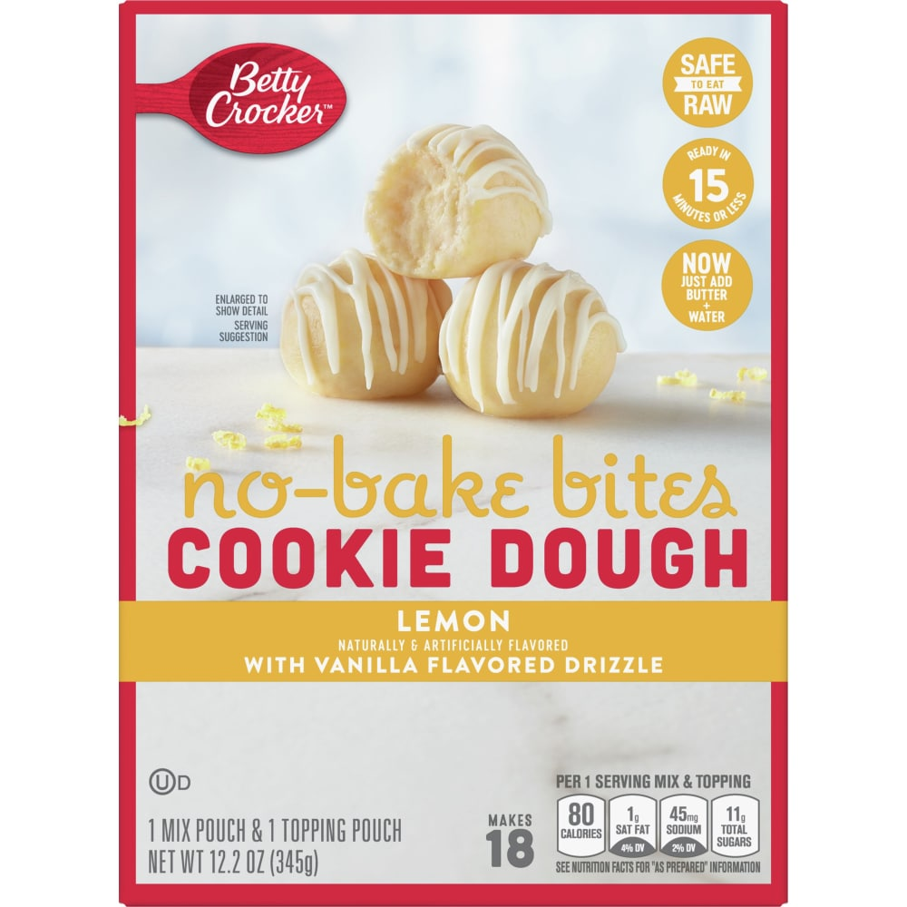 Marvelous Kroger Betty Crocker No Bake Lemon Cookie Dough Bites 12 2 Oz Funny Birthday Cards Online Elaedamsfinfo
