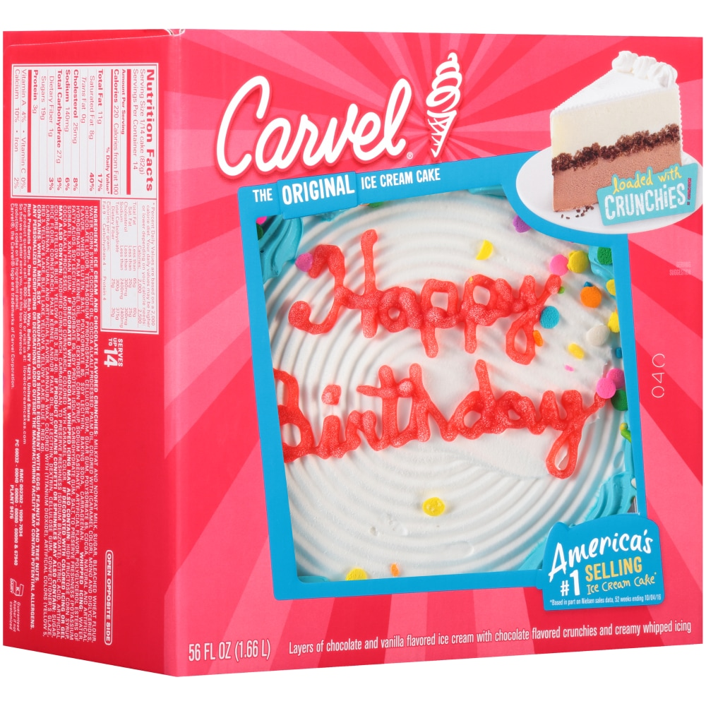 King Soopers Carvel Round Happy Birthday Celebration Ice Cream Cake