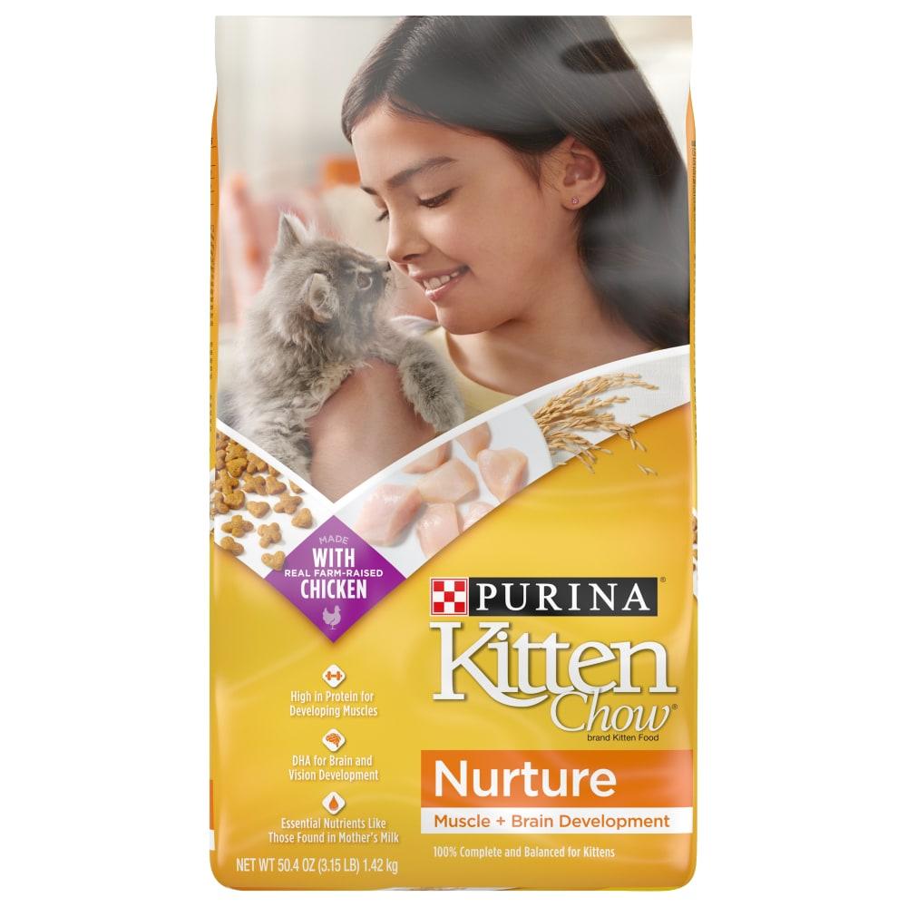 Kroger Purina Kitten Chow Nurture Dry Kitten Food 3 15 Lb