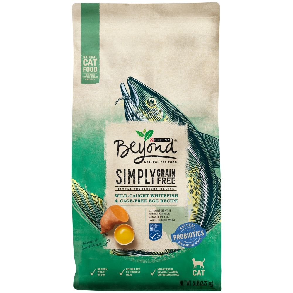 Purina Beyond Cat Food >> Beyond Grain Free Ocean Whitefish Egg Recipe Adult Dry Cat Food 5 Lb