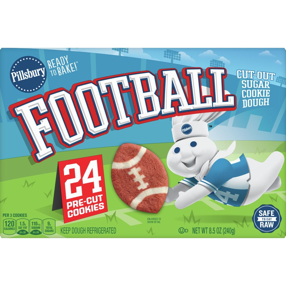 Bake Football Cut-Out Sugar Cookies