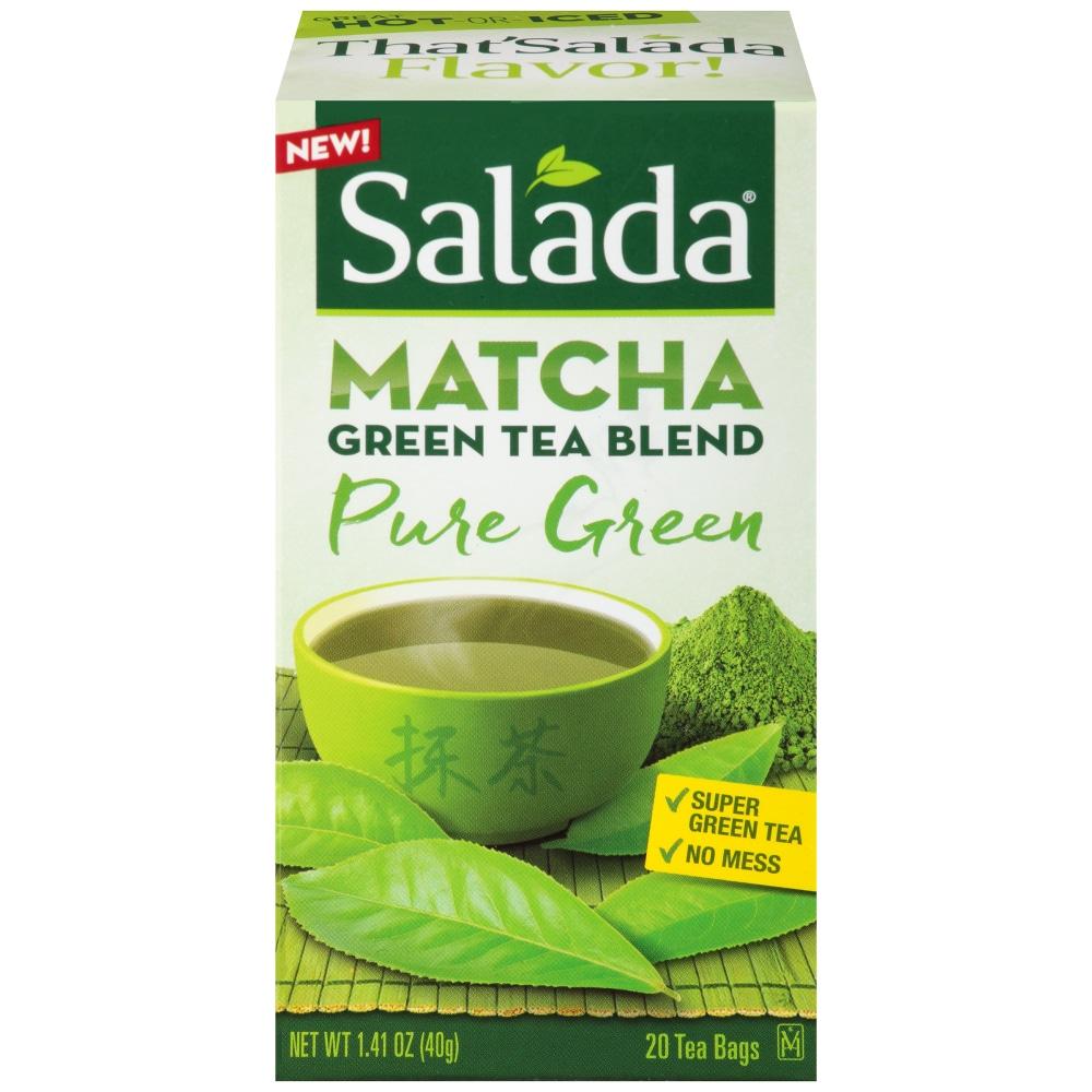 Salada Matcha Pure Green Blend Tea Bags Perspective Front