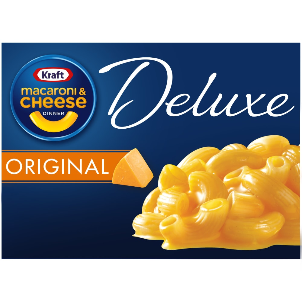 Kraft Deluxe Original Cheddar Macaroni Cheese Dinner Perspective Front