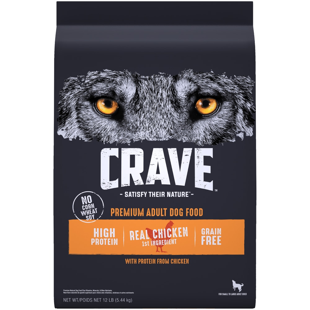 Free Adult Photos crave with protein from chicken grain free adult dog food, 12 lb