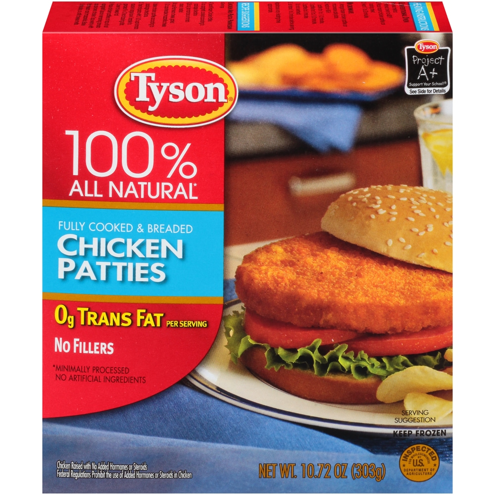 Tyson 100% All Natural Chicken Patties
