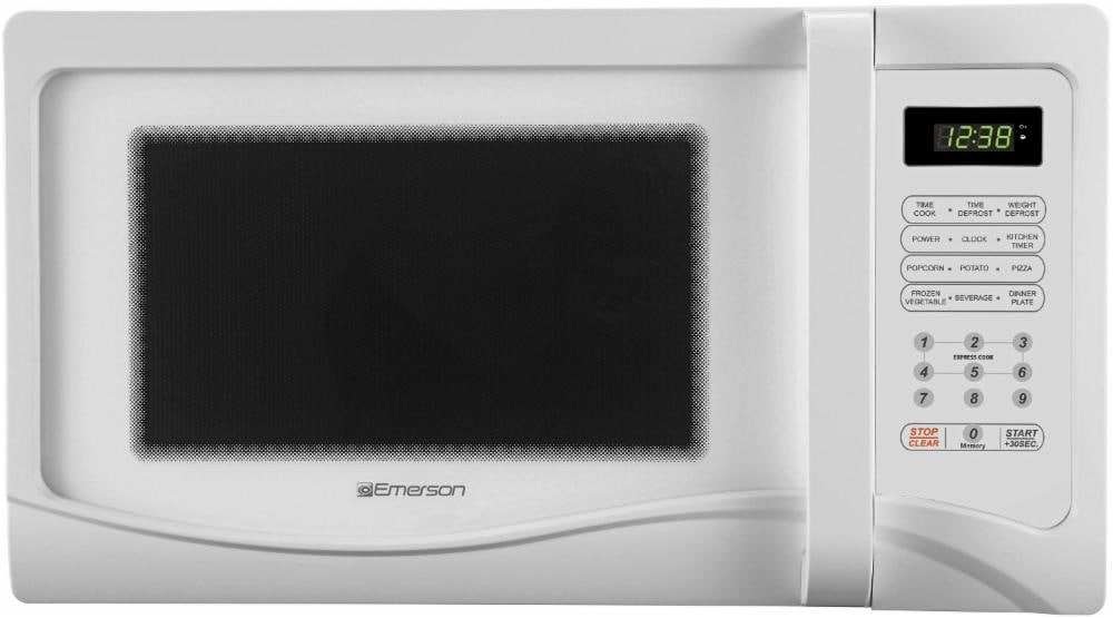 Mariano S Emerson Mw1107w Microwave Oven White 1 1 Cubic Foot 1 1 Cubic Foot