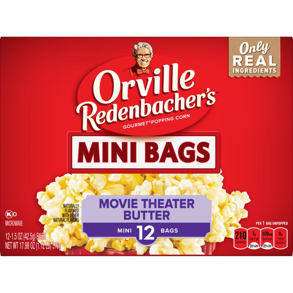 Fry S Food Stores Orville Mini Movie Theater Butter Popcorn 17 98 Oz