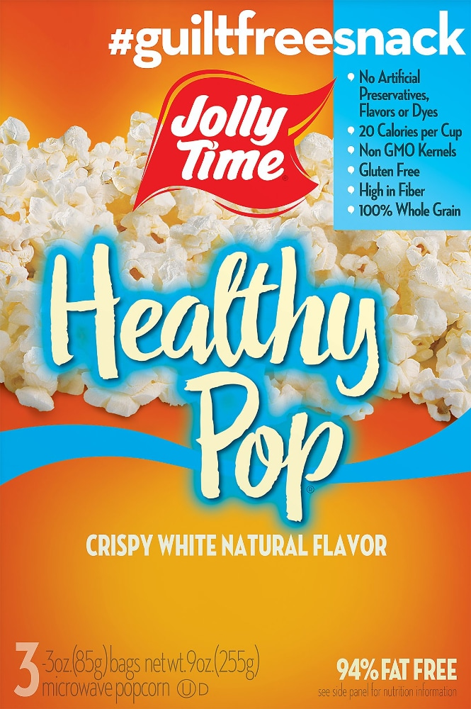 King Soopers Jolly Time Healthy Pop Crispy White Popcorn 9 Oz