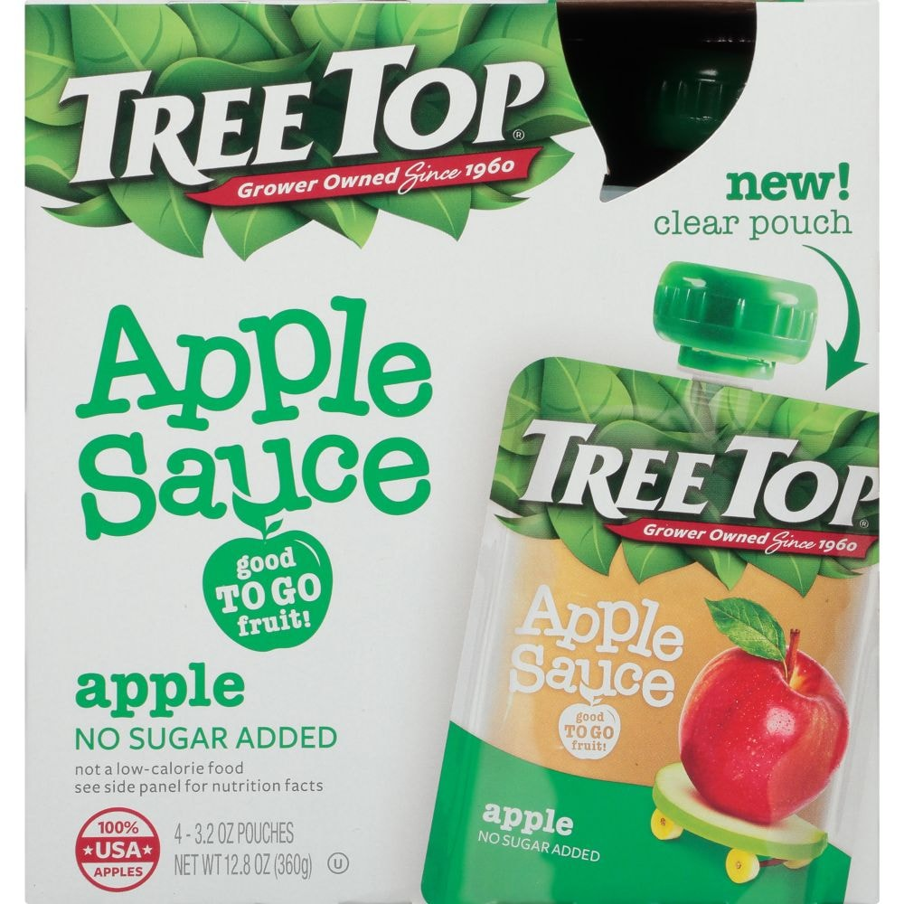 No Sugar Added Apple Sauce Pouches