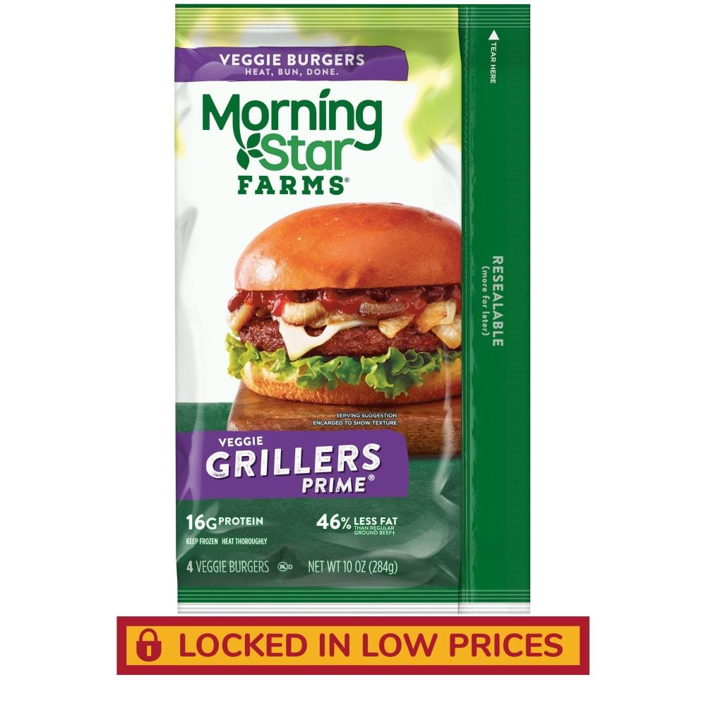 Morningstar Farms Grillers Prime Veggie Burgers 10 Oz Kroger