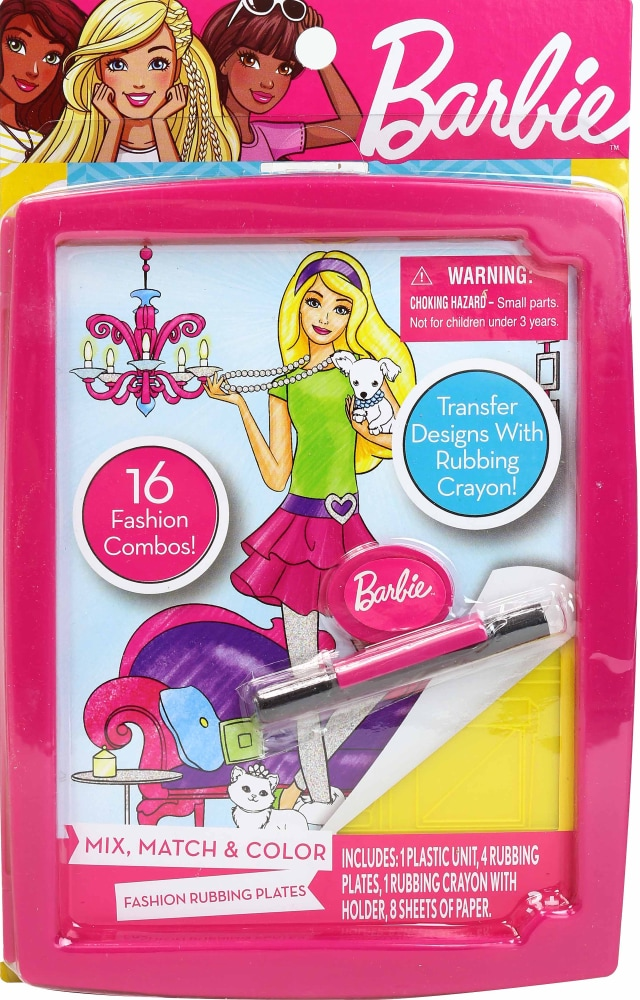 Kroger Barbie Fashion Rubbing Plates 1 Ct