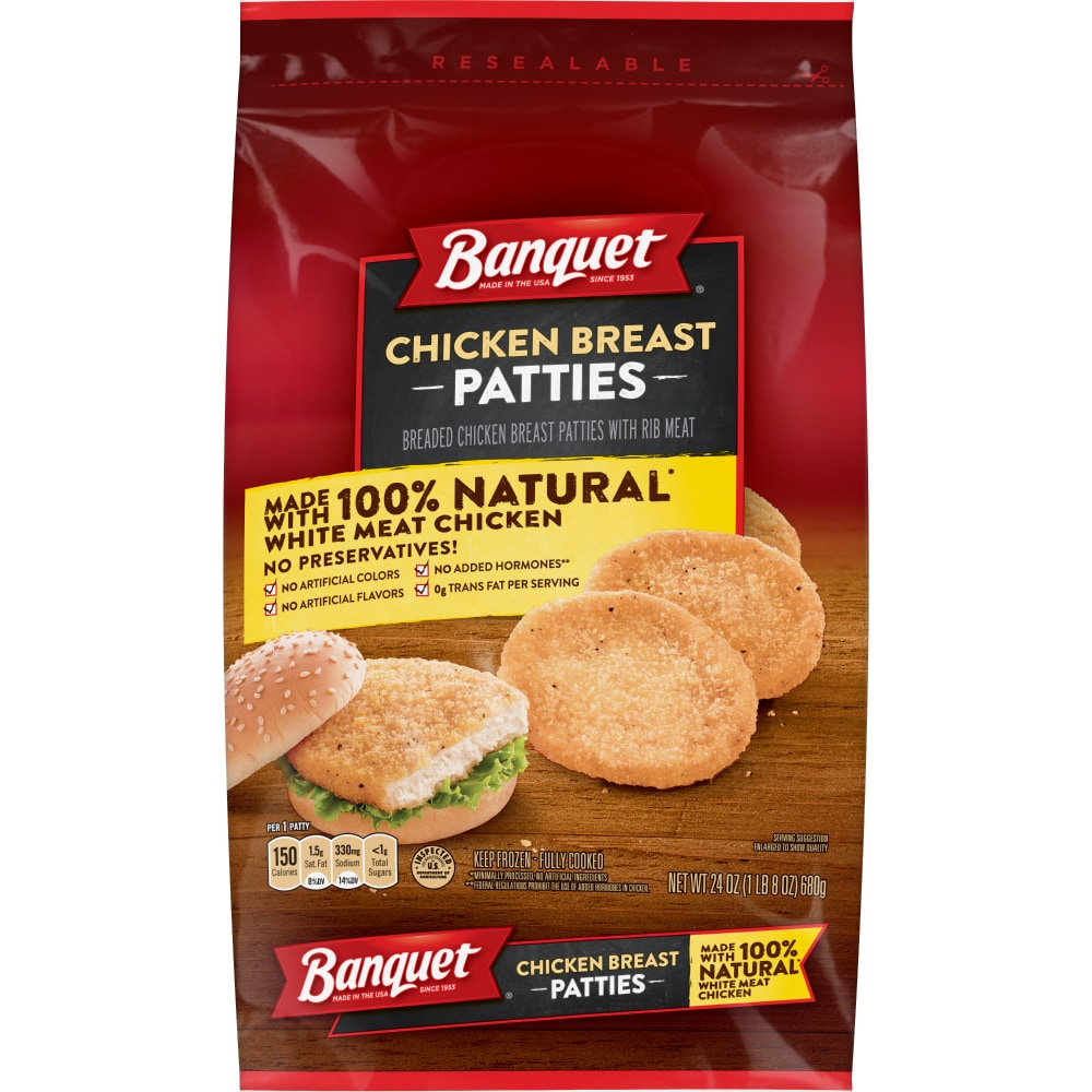 100% Natural Chicken Breast Patties